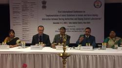 Dignitaries on Dias at the Inauguration of First International Conference organised by NDTL